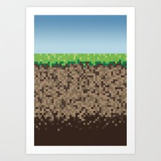 Minecraft Block Art Print