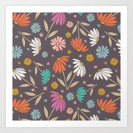 Garden Flowers Style E Art Print