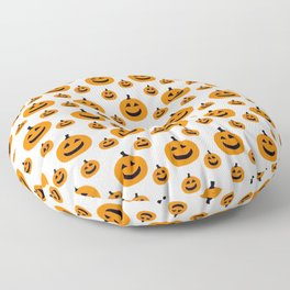 Halloween Pattern 2 Pumpkin with smile Floor Pillow