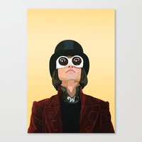 willy wonka Canvas Prints featuring Willy Wonka by Natalié Art&Living