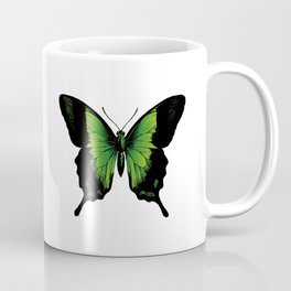 Green Butterfly | Vintage Butterfly | Green and Black | Coffee Mug