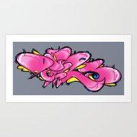 PINKNESS' Art Print
