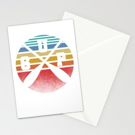 Retro SUP Stand Up Paddler Paddle Boat Boating Canoeing Water Sports Stationery Cards