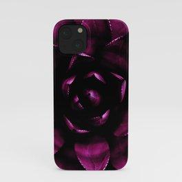 Deep Magenta Succulent iPhone Case