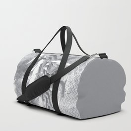 Butterflies in a gray abstract landscape Duffle Bag