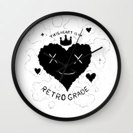 This Heart is in Retrograde Wall Clock