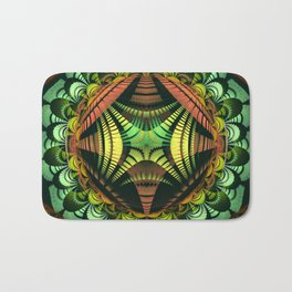 Tribal patterns mandala with fisheye effect Bath Mat