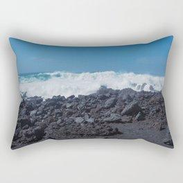 Atlantic Waves and Volcanic Coast, Lanzarote Rectangular Pillow