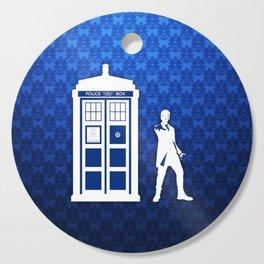 Tardis Blue Phone Box Cutting Board