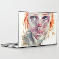 agnes Laptop & iPad Skins featuring my eyes refuse to accept passive tears by agnes-cecile