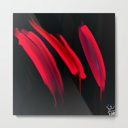 3 red Metal Print