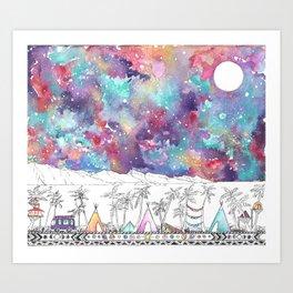 Ocean Camp Vibes Art Print