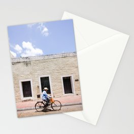 Riding a Bike in Merida, Mexico Stationery Cards