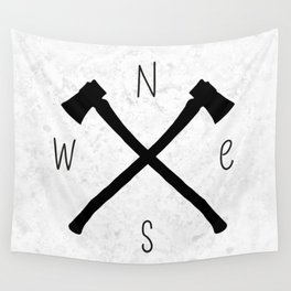 compass & axes Wall Tapestry