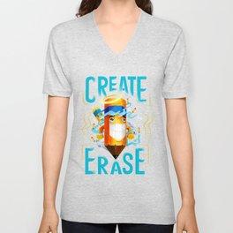 Create | Erase - Scribs (isometric) Unisex V-Neck