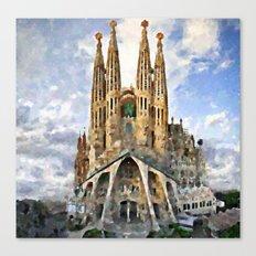 Sagrada Familia temple Canvas Print