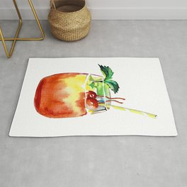 Cherry cocktail - Summer party drink Rug