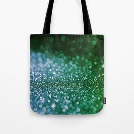Aqua Glitter effect- Sparkling print in green and blue Tote Bag