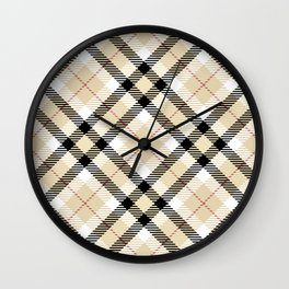 Plaid Rug Wall Clock