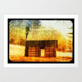 Vintage Cabin Art Print