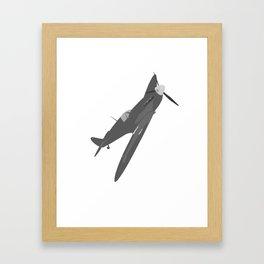 Silver Spitfire Framed Art Print