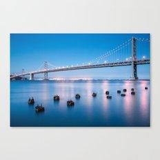 The Bay Bridge, San Francisco Canvas Print