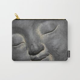 Gentle Buddha Face Stone Sculpture Carry-All Pouch