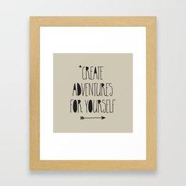 Adventures Framed Art Print