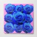 BLUE ROSE GARDEN & PINK PATTERN ART by sharlesart
