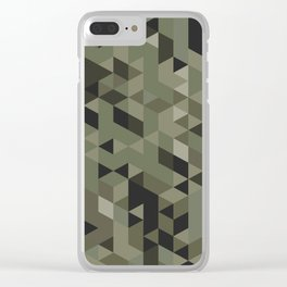 Isometric Camo Clear iPhone Case