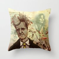 lynch Throw Pillows featuring Lynch by Davel F. Hamue