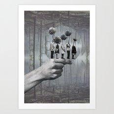La file  Art Print