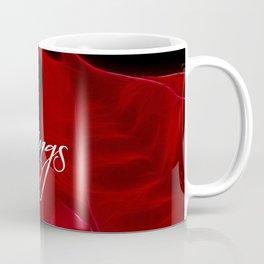 Season's Greetings Poinsettia Coffee Mug