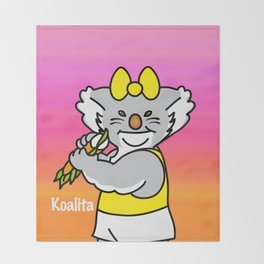 Koalita leaves sandwich Throw Blanket