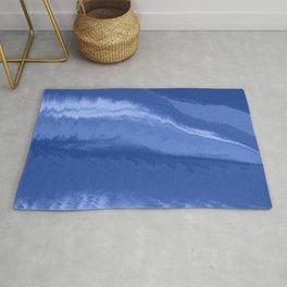 Water wave blue Rug