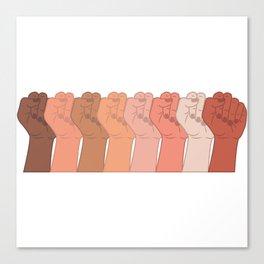 Female Power Pattern 6 Canvas Print