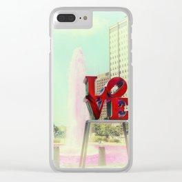 Philadelphia Love Clear iPhone Case