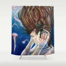 Deep Sounds Shower Curtain