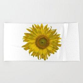 Yellow Sunflower Blossom Beach Towel