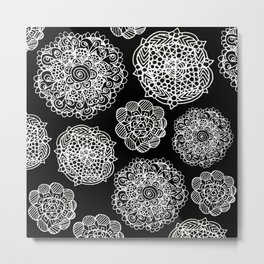 invert mandala maze Metal Print