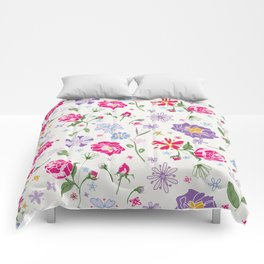 Fragrant Blooms Comforters