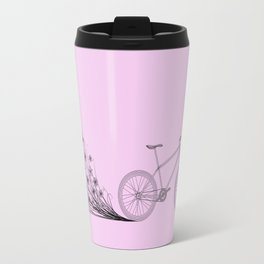 Cycling with flowers Travel Mug