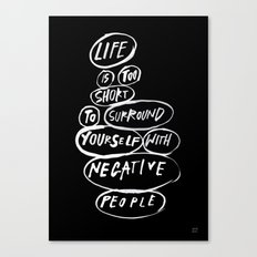 POSITIVE PEOPLE SURROUND SYSTEM Canvas Print