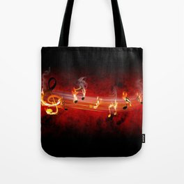 Hot Music Notes Tote Bag