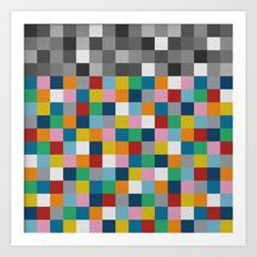 Colour Block with Topper #2 Art Print