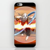aang iPhone & iPod Skins featuring Avatar Aang by Waffle Guru