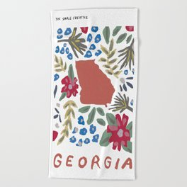 Georgia + Florals Beach Towel