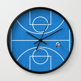 Shoot Hoops | Aerial Basketball Wall Clock