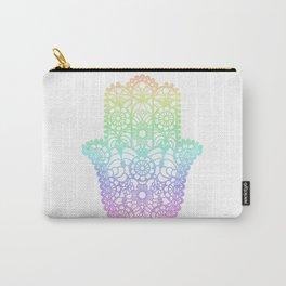Rainbow Hamsa Carry-All Pouch