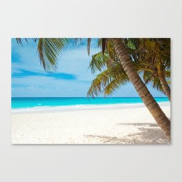 Turquoise Tropical Beach Canvas Print